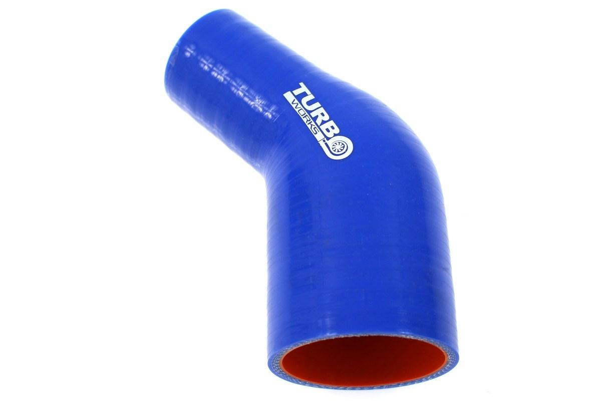Redukcja 45st TurboWorks Pro Blue 51-76mm - GRUBYGARAGE - Sklep Tuningowy